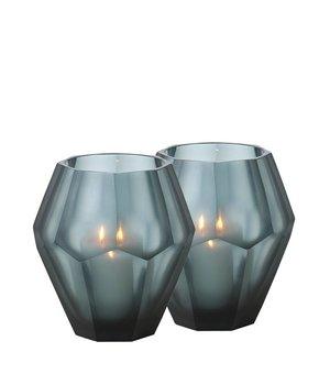 Eichholtz Teelichthalter - Okhto blue M; Set von 2
