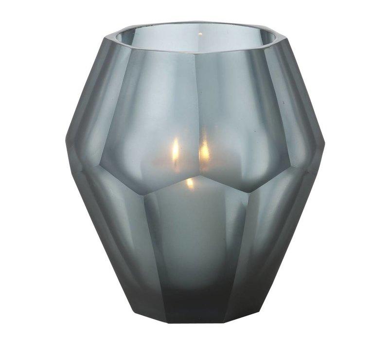 Candle holder - Okhto blue 'M' set of 2