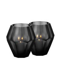 Candle holder - Okhto black 'L' set of 2