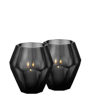 Eichholtz Teelichthalter - Okhto black L; Set von 2
