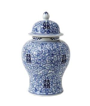 Eichholtz Deko Vase China Blau 'Glamour XL'; 40 x 67 cm (h)