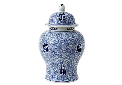 Eichholtz Decoratie vaas - Glamour XL Chinese Blue