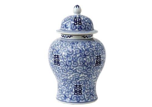 Eichholtz Deko Vase - Glamour XL Chinablau