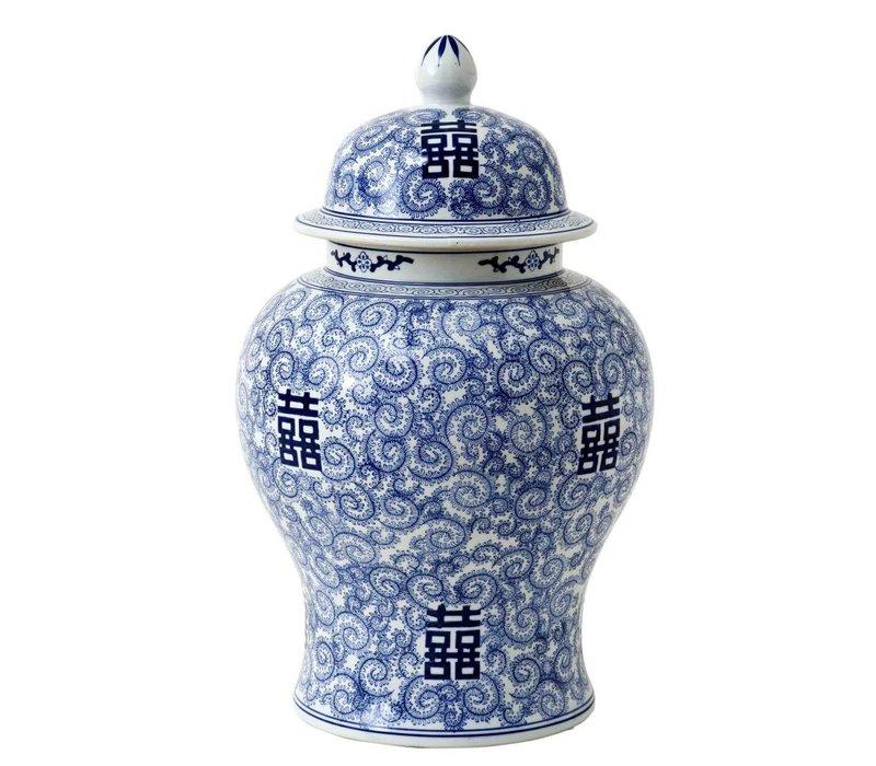 Vase Chinese Blue 'Glamour XL' 40 x 67cm (h)