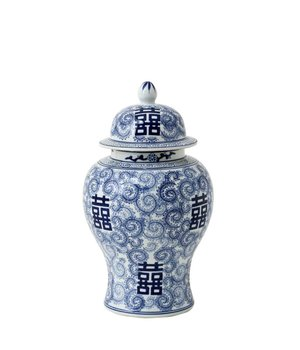 Eichholtz Deko Vase China Blau 'Glamour L'; 30 x 46 cm (h)