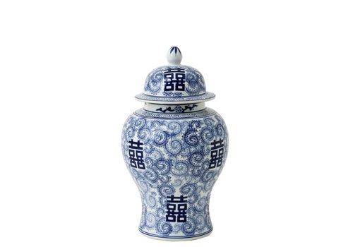 Eichholtz Deko Vase - Glamour L Chinablau