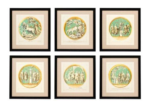 Eichholtz Prints Pietro Santi Bartoli set van 6