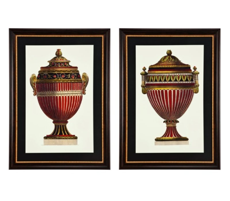 Prints Empire Urns - set of 2