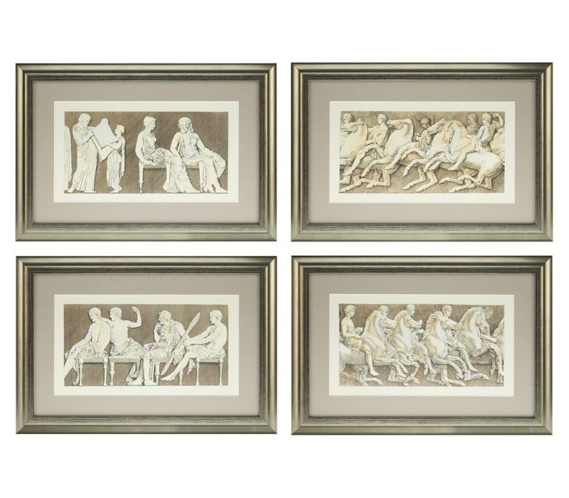 Prints Antiquities of Athens set van 4