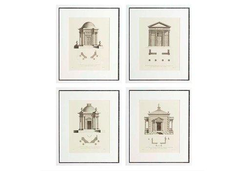 Eichholtz Prints Architecture set van 4