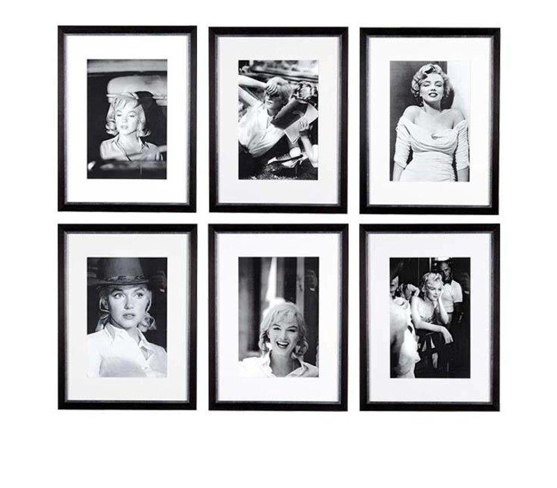 Prints Marilyn Monroe Set von 6