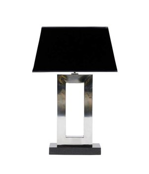 Eichholtz Table lamp 'Arlington' stainless steel with a shade in black