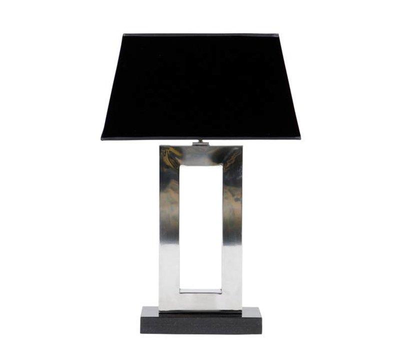 Tischlampe Arlington mit schwarzer Kappe, 71 cm hoch