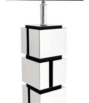 Eichholtz Tischlampe 'Reynaud' mit schwarzer viereckiger Kappe, 80 cm hoch