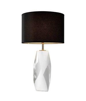 Eichholtz Tischleuchte 'Titan' mit Kristallfuss und schwere runde Kappe, 75 cm hoch