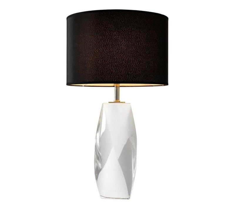 Tischleuchte 'Titan' mit Kristallfuss und schwere runde Kappe, 75 cm hoch