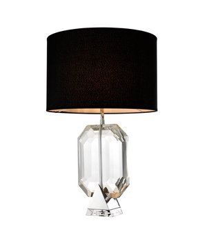 Eichholtz Table lamp 'Emerald' crystal glass with a black shade