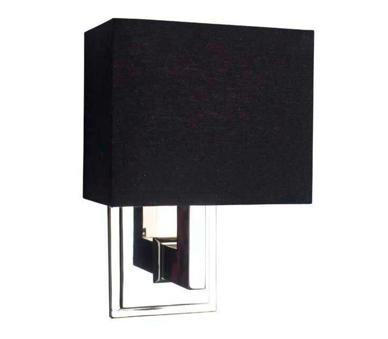Wandlampe Balthazar mit schwarzer Kappe