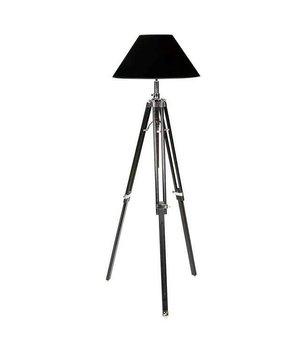 Eichholtz Dreibein Lampe 'Telescope' schwarz verstellbare Höhe.