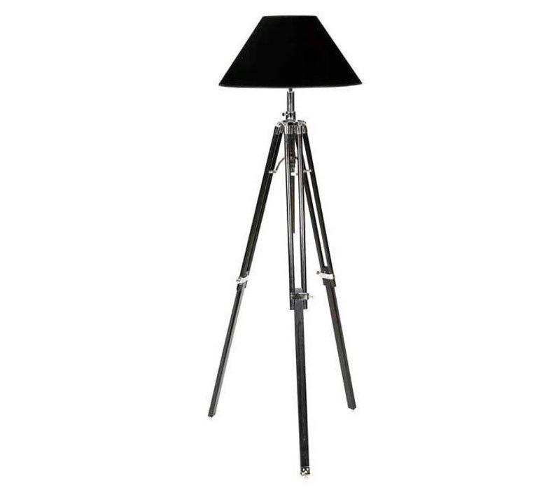 Driepoot lamp 'Telescope' black verstelbaar in hoogte