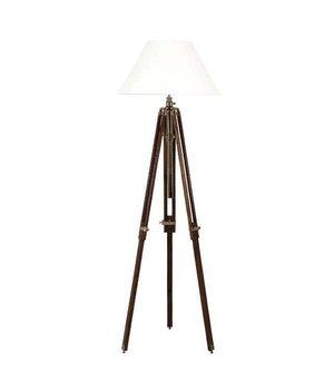Eichholtz Dreibein Lampe 'Telescope' Wood/Brass verstellbar in Höhe