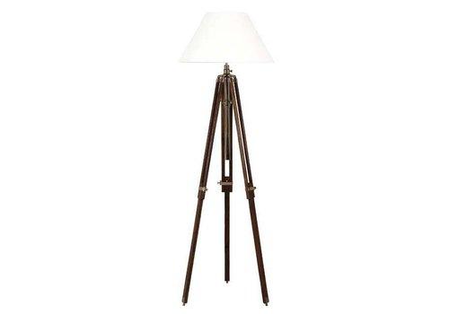 Eichholtz Dreibein Lampe 'Telescope' Wood/Brass