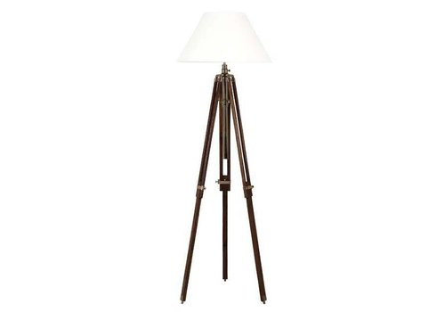 Eichholtz Driepoot lamp 'Telescope' wood/brass