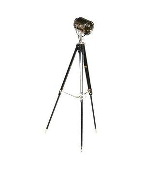 Eichholtz Dreibein Lampe 'Studio' schwarz verstellbare Höhe.