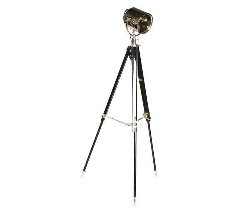 Dreibein Lampe 'Studio' schwarz verstellbare Höhe.