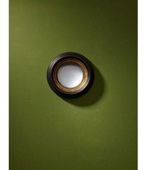 Deknudt Runder Designer Spiegel 'Convex Mini' Farbe Schwarz/Gold