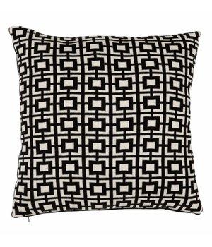 Eichholtz Sierkussen Abstract Squares kleur zwart