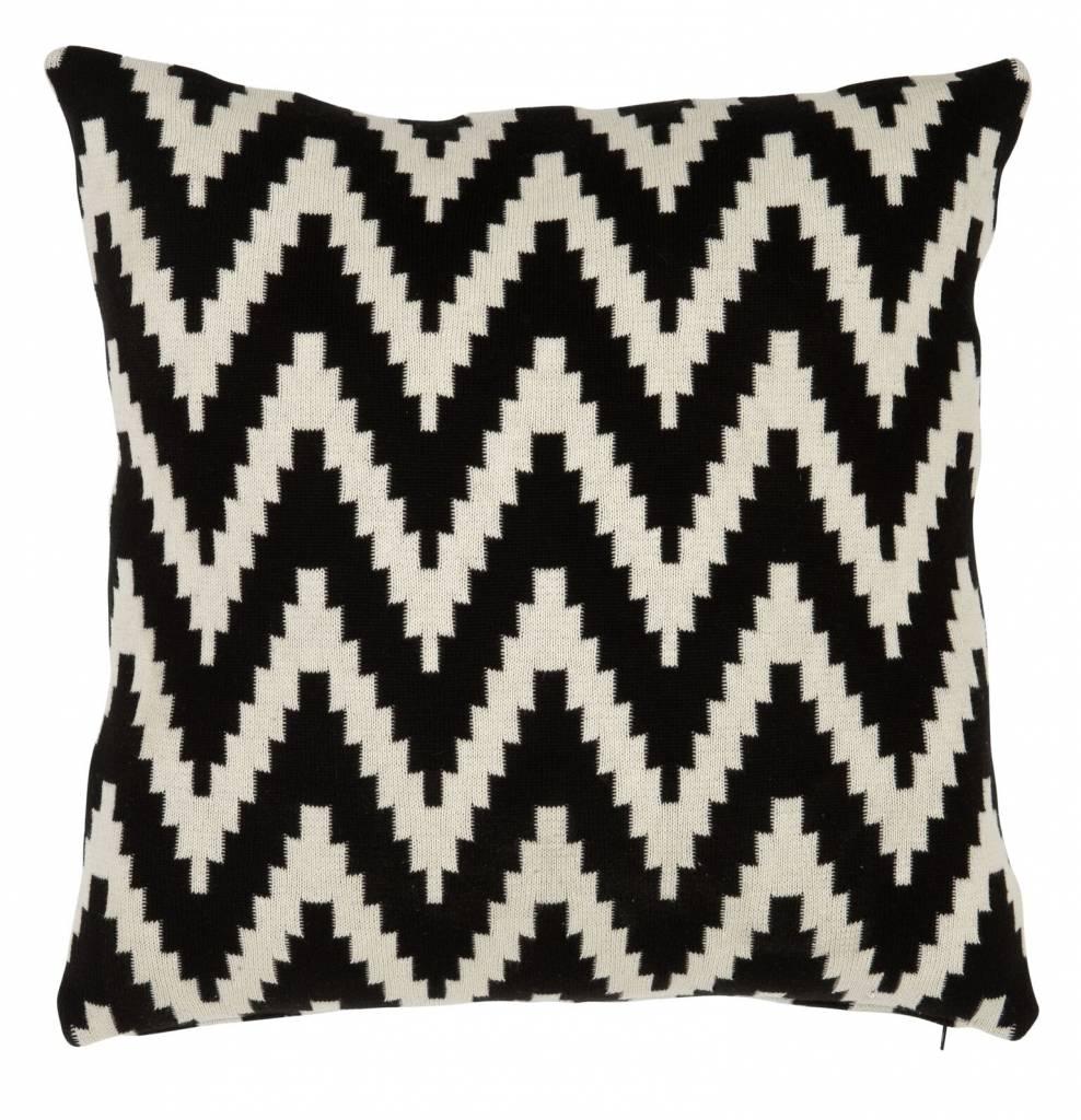 kussen abstract chevron black wilhelmina designs