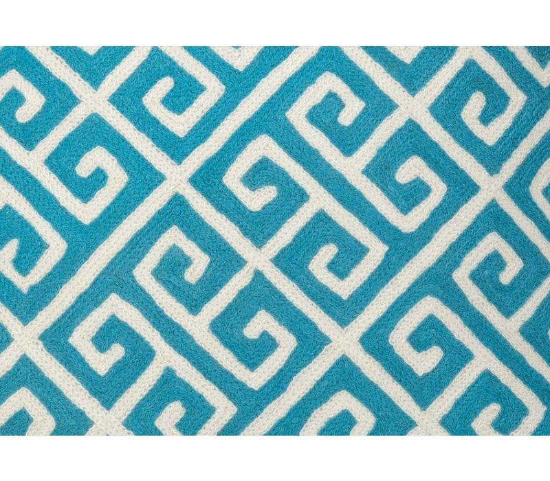 Cushion Osbourne color Aqua