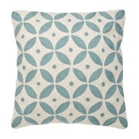 Cushion Loganberry colors blue & white