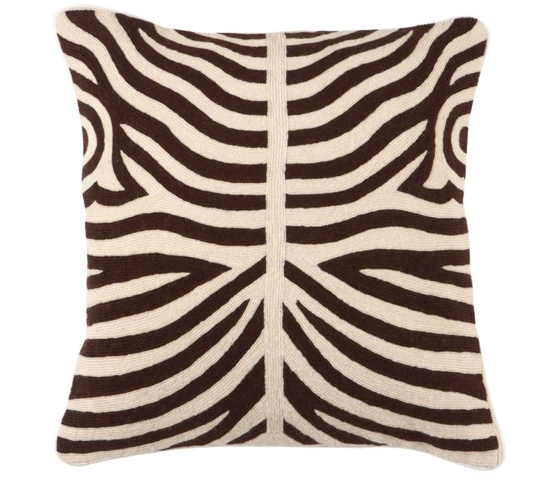 Cushion Zebra color Brown