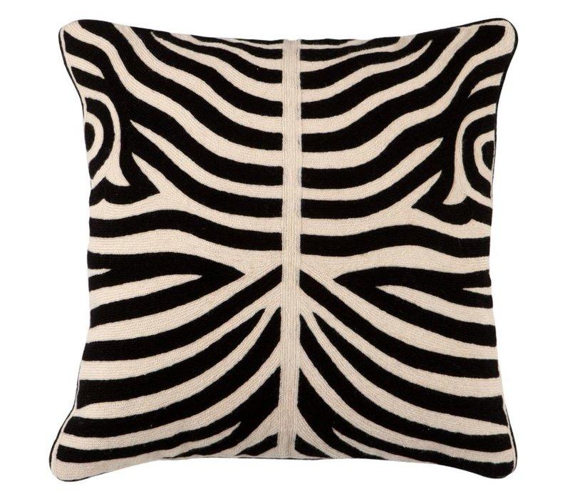 Zierkissen Zebra Black