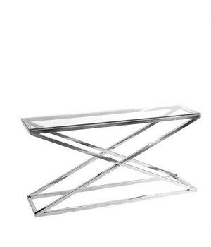 Eichholtz Glass console table 'Criss Cross' 150 x 40 x 74cm (h)