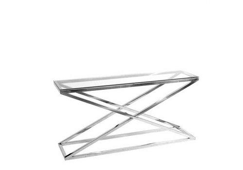 Eichholtz Glazen console tafel - Criss Cross