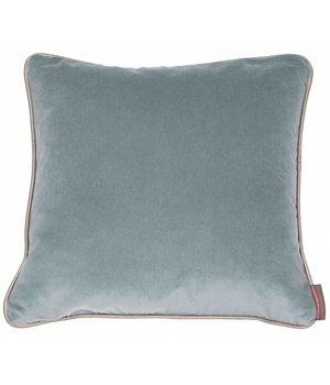 De Kussenfabriek Cushion Saffi Azure with Gold piping