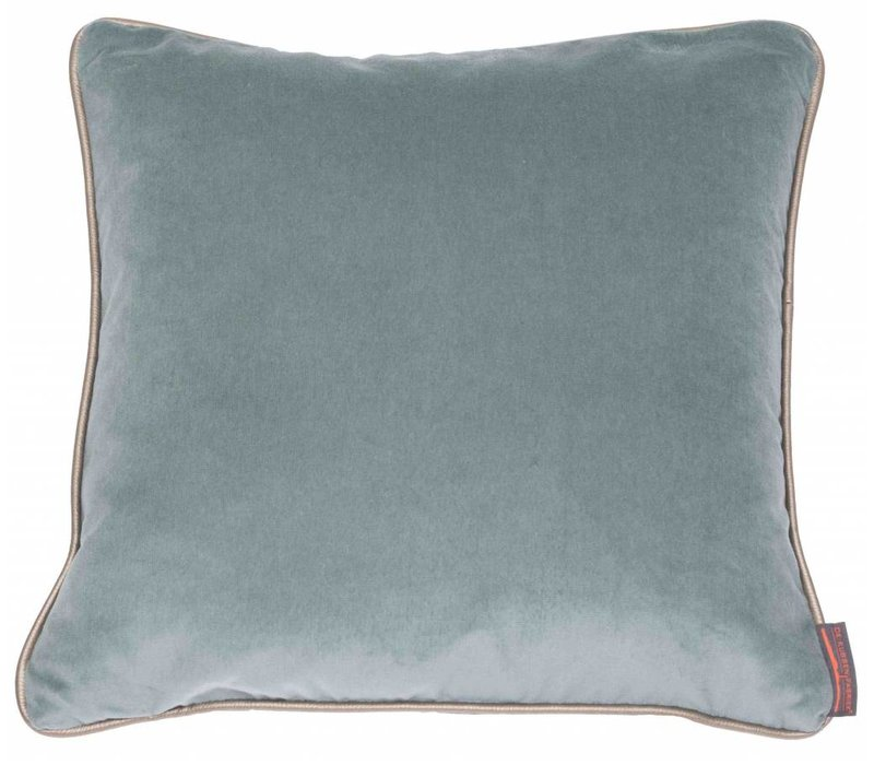 Cushion Saffi Azure with Gold piping