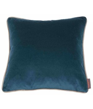 De Kussenfabriek Cushion Saffi Petrol with Gold piping