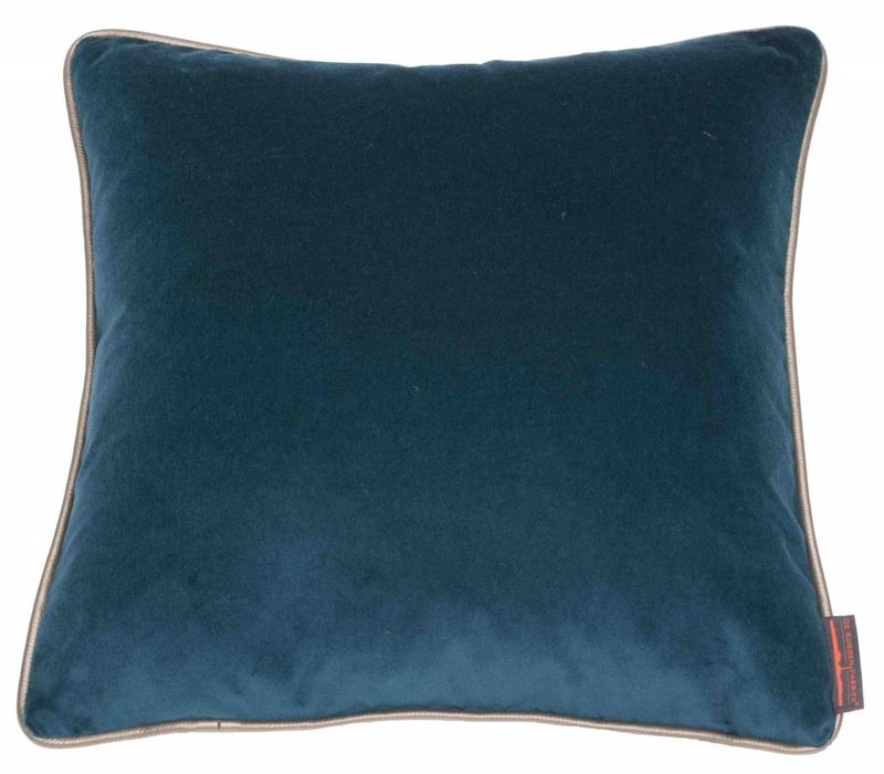 Cushion Saffi Petrol with Gold piping