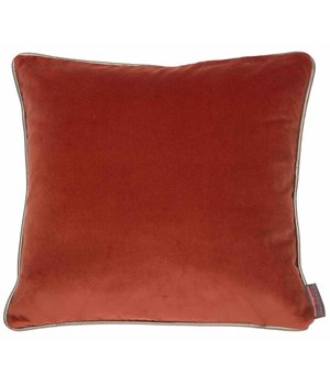 De Kussenfabriek Cushion Saffi Burned Orange with Gold piping