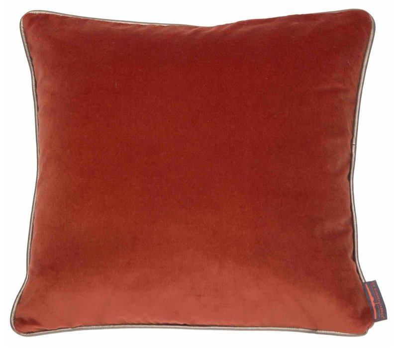 Cushion Saffi Burned Orange with Gold piping