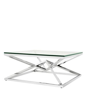 Eichholtz Glass Coffee table 'Connor' 100 x 100 x H. 45 cm