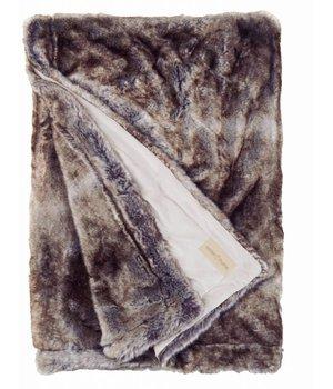 Winter-home Faux fur plaid 'Seafoxl' 140cm x 200cm
