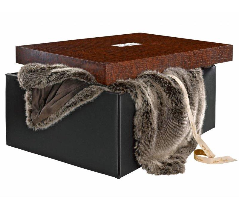 Faux fur plaid 'Silverracoon' 140cm x 200cm