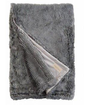 Winter-home Faux fur plaid 'Silverracoon' 140cm x 200cm