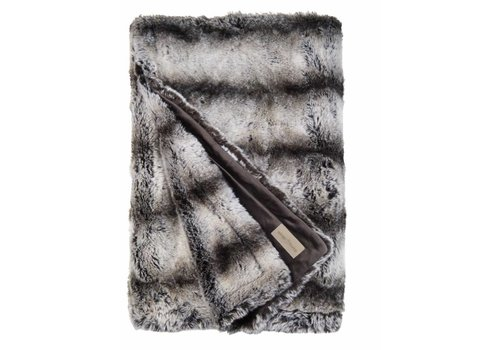 Winter-Home Faux fur plaid 'Marmota'