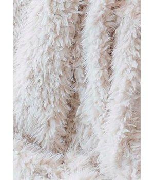 Winter-home Faux fur plaid 'Lamb' 140cm x 200cm